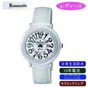 【ROMANETTE】ロマネッティ レディース腕時計RE-3522L-3 アナログ表示 10年電池 日常生活用防水