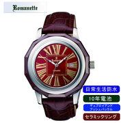 【ROMANETTE】ロマネッティ メンズ腕時計RE-3521M-6 アナログ表示 10年電池 日常生活用防水