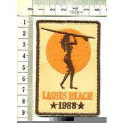 輸入ワッペン LADIES BEACH レディースビーチ