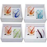 【感謝をこめて沖縄伝統工芸品を贈ります】泡ちゅら風グラス2個ギフトセット