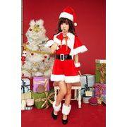 クリスマスイベントにサンタ衣装セット!帽子・アーム・ケープ・ウォーマー付