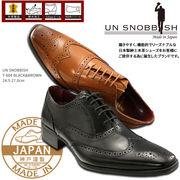 UN SNOBBISH 【MadeInJapan】本革紳士ビジネスシューズ T-604