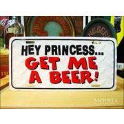 ライセンスプレート ビールの注文