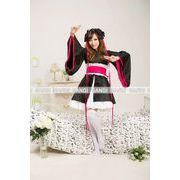 ラブライブ  浴衣 メイド 着物ドレス キャラクター ハロウィン コスプレ 4018