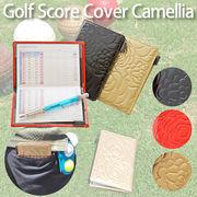 【ゴルフ用品】ゴルフスコアホルダー エナメルカメリア 赤 黒 ゴールド スポーツ レディース