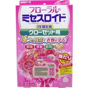 フローラルミセスロイド クローゼット用防虫剤 1年間有効 フローラルブーケの香り 3個入
