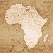 Paper+Design ペーパーナプキン アフリカ×地図