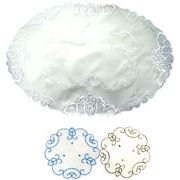 刺繍テーブルマット(楕円型L) 124-06