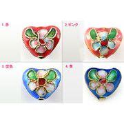 【モチーフビーズ】七宝焼 ハート型