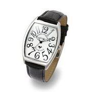MICHELJURDAIN 腕時計 スポーツ ダイヤモンド レザー ブラック/シルバー SG1000-11 メンズ