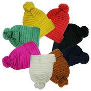 ボ~ンボ~ン ニット帽:全8色【フリーサイズ/男女兼用】【帽子】