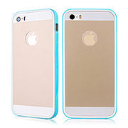 iPhoneSE / iPhone5s iPhone SE iPhone 5s バックプロテクターフィルムバンパーケース ブルー