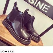 秋冬新作 サイドゴア ショートブーツ【即納】靴 ブーツ ブラック 撥水 レインブーツ ローヒール