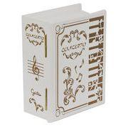 【 木製ブック型オルゴール(ピアノ) ♪Let It Go 】