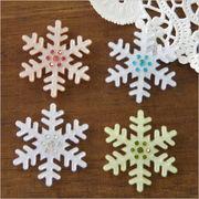 単価約69.8円♪ハンドメイド用♪デコパーツ♪キラキラストーン付♪高品質な雪の結晶♪10個/雪/冬