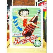 アメリカンブリキ看板 ベティ・ブープのコーラ