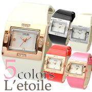 【L'etoile】シェル文字盤 レディース腕時計 LB1