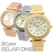 【Bel Air Collection】煌びやかなラインストーンベゼル レディース腕時計 DNS9