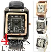 【L'etoile】スクエアフェイス メンズ ユニセックス 腕時計 LB6