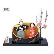 ★ひな祭りを飾る★ 陶製の雛人形 【錦彩 風雅桜立雛(竹取り飾り)】