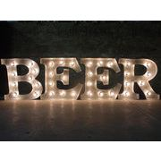 AMERICAN SIGN WITH LIGHT 「BEER」