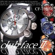 【選べるケース有or無♪】 腕時計 デザインクロノグラフ ラバーバンド ウォッチ 男性用◇CF-1063R