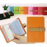 BLHW144962◆送料0円◆ブック型 クリア じゃばら シンプル カードケース