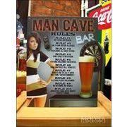 アメリカンブリキ看板 男の洞窟での十カ条