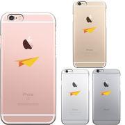 iPhone6 iPhone6S ハード クリアケース カバー シェル おりがみ 紙飛行機