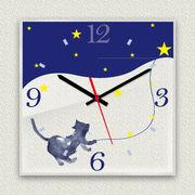 MYCLO 「アニマル」シリーズ時計 04 ねこちゃん イラストオリジナル 文字盤時計