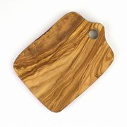 オリーブ木 まな板四角 柄なし 小