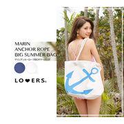 【注文後7日後発送】夏マストバッグアイテム マリンアンカーロープBIGサマーバッグ バッグ 鞄 カバン