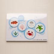 【即納】世界最小級の大人サプライズ☆nanoblockポストカード 【海のなかまたち】Gift 特価!
