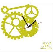 HARRY CLOCK ウォールステッカー 時計付き mechanism (からくり) シトロン 約45×45cm