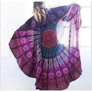 【春夏新作】ファッション/ボヘミア風ビーチスカーフ(肩掛け)♪アカ/ブルー2色展開◆