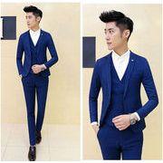 メンズ・セットアップ 1ボタン スリムスーツ ビジネス suit フォーマル リクルートスーツ卒業式 面接