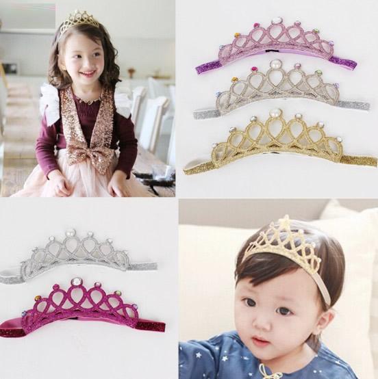 子供 キッズ ヘアピン キラキラティアラヘアバンドヘアアクセサリー ティアラ 王冠 髪飾り ジュニア
