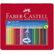 """名門文具ブランドの子供用色鉛筆! """"FABER-CASTELL カラーグリップ水彩色鉛筆24色"""""""