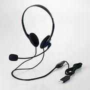 エレコム USBヘッドセット(両耳小型オーバーヘッドタイプ) HS-HP27UBK