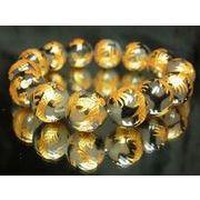 金彫皇帝龍ドラゴンアゲート14ミリ数珠ブレスレット!龍の紋章を持つ龍紋石