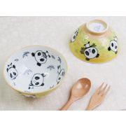 【笹いっぱいで小躍りしちゃう】 ほんわかパンダさん お子様向け小さめお茶碗