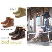 S) 50%OFF【Mooi!】 MF302 本革 サイドジップ ブーツ 全3色 レディース