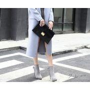 【初回送料無料】人気ファッションショートブーツ♪ブラック/グレー2色○too-n268-2-225★