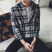 【ニュースタイル !!】★2016秋冬新型は、★韓版長袖シャツ男★ファッションレジャー★男