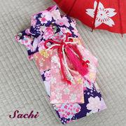 日本製  セレブスタイル  高品質ペットウェア 犬服の着物桜舞妓帯紫  XS/S/M/MD-M/L