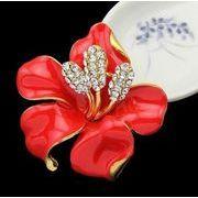 ブローチ プレゼント 6色花柄ブローチ ストールピン クリップ スカーフ留め