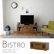 【送料無料】 Bistro(ビストロ) ローボード(ハイタイプ120cm幅)LBR