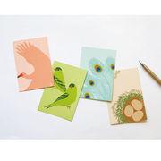 【新商品】鳥たちの、美しく優しい色をおくろう。とりいろポストカード