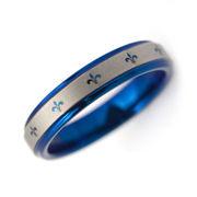 刻印可能 タングステン 4mmフレア リング 指輪 ブルー