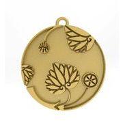 花付き葵の丸2 家紋 トップのみ 18Kゴールド